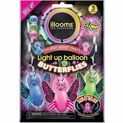 12 illooms Butterflies LED Light Up Balloons Party Kids Birthday Favor Balloon](Illooms Led Balloons)