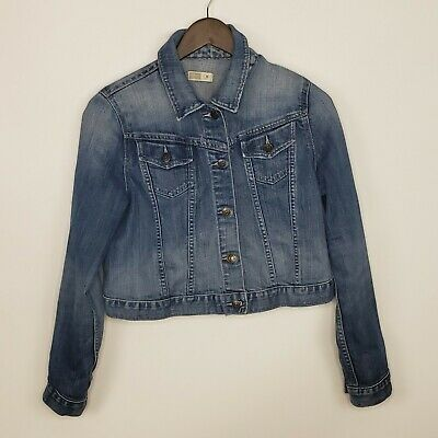 OLD NAVY Maternity Women's Denim Blue Jean Jacket Size Medium