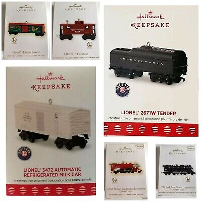 Lionel Train Collector Set Of 6 *Rare* Keepsake Christmas Tree Ornaments *2009*