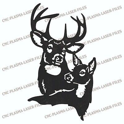 Deer Head Dxf Sign For Laser Waterjet Plotter Router Plasma Cut Vector File File