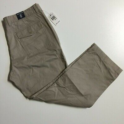 NWT Nautica Men's 38x30 Beige Khaki 100% Cotton Loose fit Chino Pants