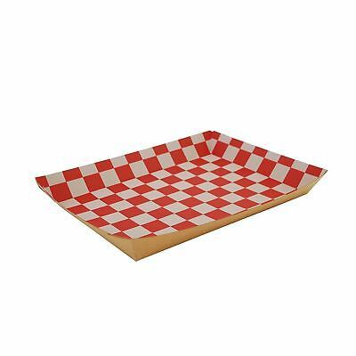 "Southern Champion Kraft Paper Lunch Tray, 10.5x7.5x1.5"", Checkerboard 