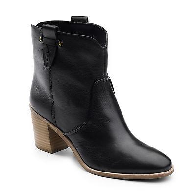 G.H. Bass & Co. Womens Sophia Genuine Leather Slip-on Heeled