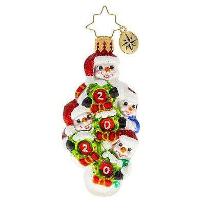 [NEW Christopher Radko QUADRUPLE THE FROSTY FUN Christmas Ornament 1020258</Title]