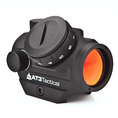 At3 Tactical Rd 50 Red Dot Reflex Sight With Optional Picatinny Riser Mount