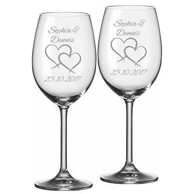 Graviertes Wein-glas (2 Leonardo Weingläser mit Gravur
