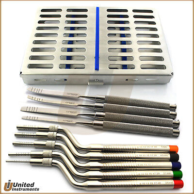 Osteotome Sinus Lift Kit Implant Bone Chisel Spreader Dental Oral Surgery Tray
