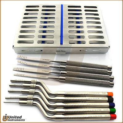 Osteotome Sinus Lift Kit Implant Bone Chisel Spreader Dental Oral Surgery Tray