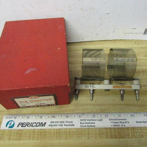 COIL 4 PIN PLUG IN TVL 10, 15, 20, 80 meter B&W  HAM RADIO