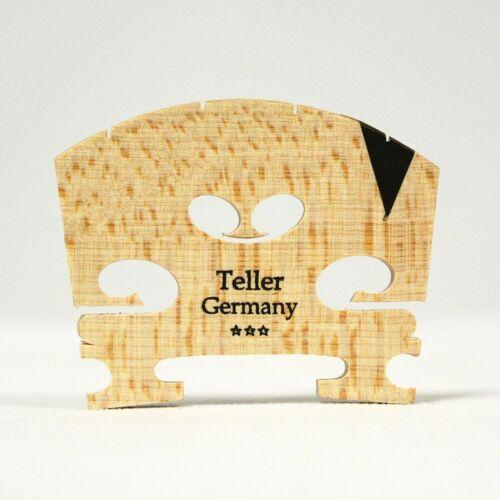 Teller *** Violin Bridge 4/4  Size Ebony  Insert  Fitted, Free Shipping!!!