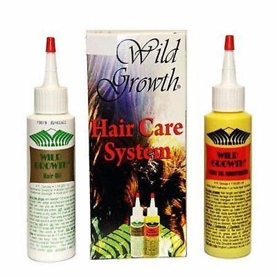 WILD GROWTH HAIR CARE SYSTEM 4 oz HAIR OIL'S Detangler & Extender! Olive, (Olive Oil Hair Care)