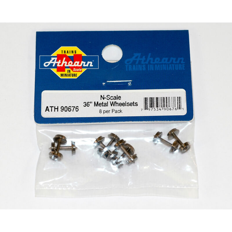 "Athearn N 36"" Metal Wheel Set (8) ATH90676"