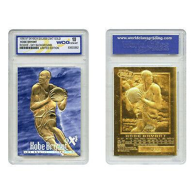 1996-97 KOBE BRYANT SKYBOX EX-2000 Credentials 23K GOLD ROOKIE BLUE *GEM MINT -