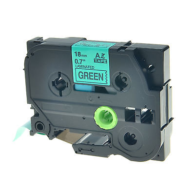 1pk Tz741 Tze741 Black On Green Label Tape For Brother P-touch Pt-1900 18mm 34
