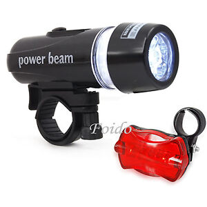 WATERPROOF-BRIGHT-5-LED-BIKE-BICYCLE-HEAD-REAR-LIGHTS-LIGHT-6-MODES-WIDE-BEAM