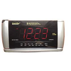 Emerson Research CKS3516 Dual Alarm Clock AM/FM Radio smart set time Projector