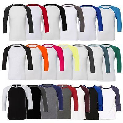 Bella+Canvas: Herren 3/4 Sleeve T-Shirt, in 18 Farben Triblend Baseball 3200 NEW - 3/4 Sleeve Shirt