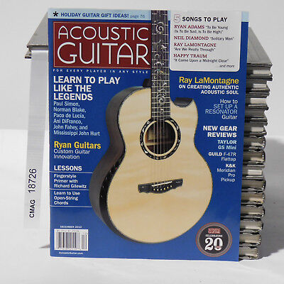 Ryan Guitars Acoustic Guitar Magazine December 2010 Ray LaMontagne Lessons for sale  Shipping to India