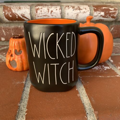 RAE DUNN HALLOWEEN BLACK WICKED WITCH MUG  - $43.00