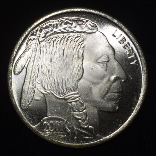 Buffalo Dollar art bar .999 fine silver 1 oz