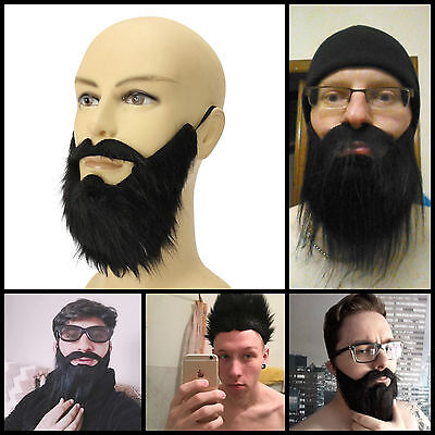 Beard Mustache Facial Hair Disguise Game Funny Mens Male Party Costume Accessory (Funny Mustache Costumes)