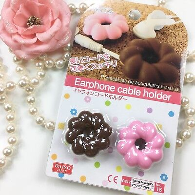 Earphone Cable Holder Cord Winder [Twist Donut] (set of 2)