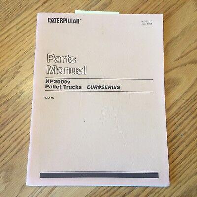 Mitsubishi Caterpillar Np2000v Pallet Truck Parts Manual Book Catalog Fork Lift