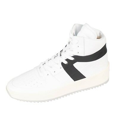 Basketball-high-top-sneakers (NIB FEAR OF GOD White Leather Basketball High-Top Sneakers Shoes 8/41 $1195)