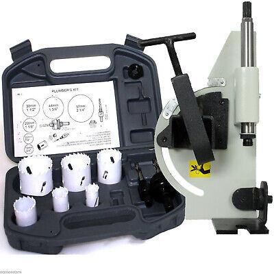 Tube Pipe Notcher 60 Degree Notch And 6pc Bi-metal Hole Saw W2 Drills Kit