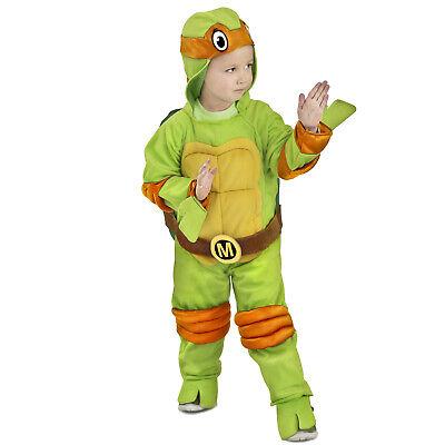 Toddler Michelangelo Teenage Mutant Ninja Turtle Halloween Costume Jumpsuit XS S](Teenage Mutant Ninja Turtle Costume Toddler)