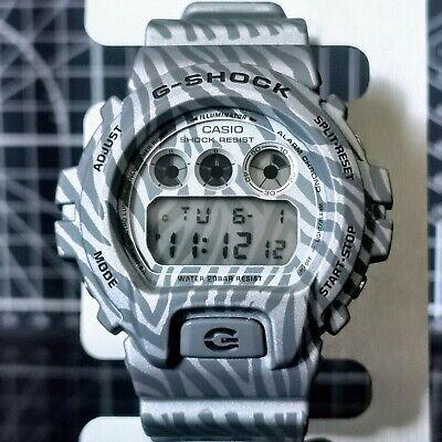 Rare CAMOFLAUGE PATTERN G-Shock DW-6900ZB-8 (3230) Silver Grey Camo Print 2014