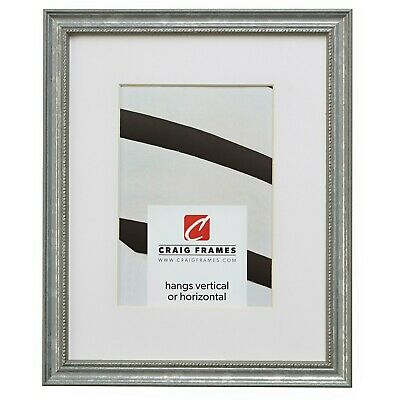 Craig Frames 314SI 10x13 Aged Silver Picture Frame Matted to