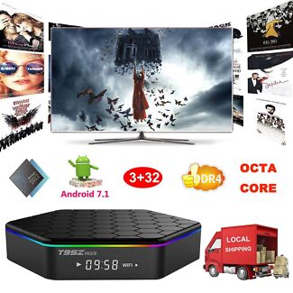 T95Z Plus Top Box 3GB-DDR4 32GB 8-Core Android 7.1 WIFI Bluetooth 4.1