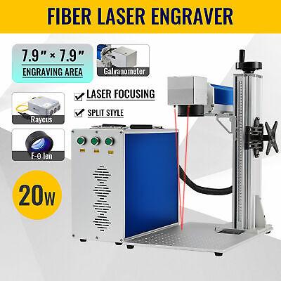 7.9 X 7.9 20 Watt Raycus Fiber Laser Marking Metal Laser Marker Engraver
