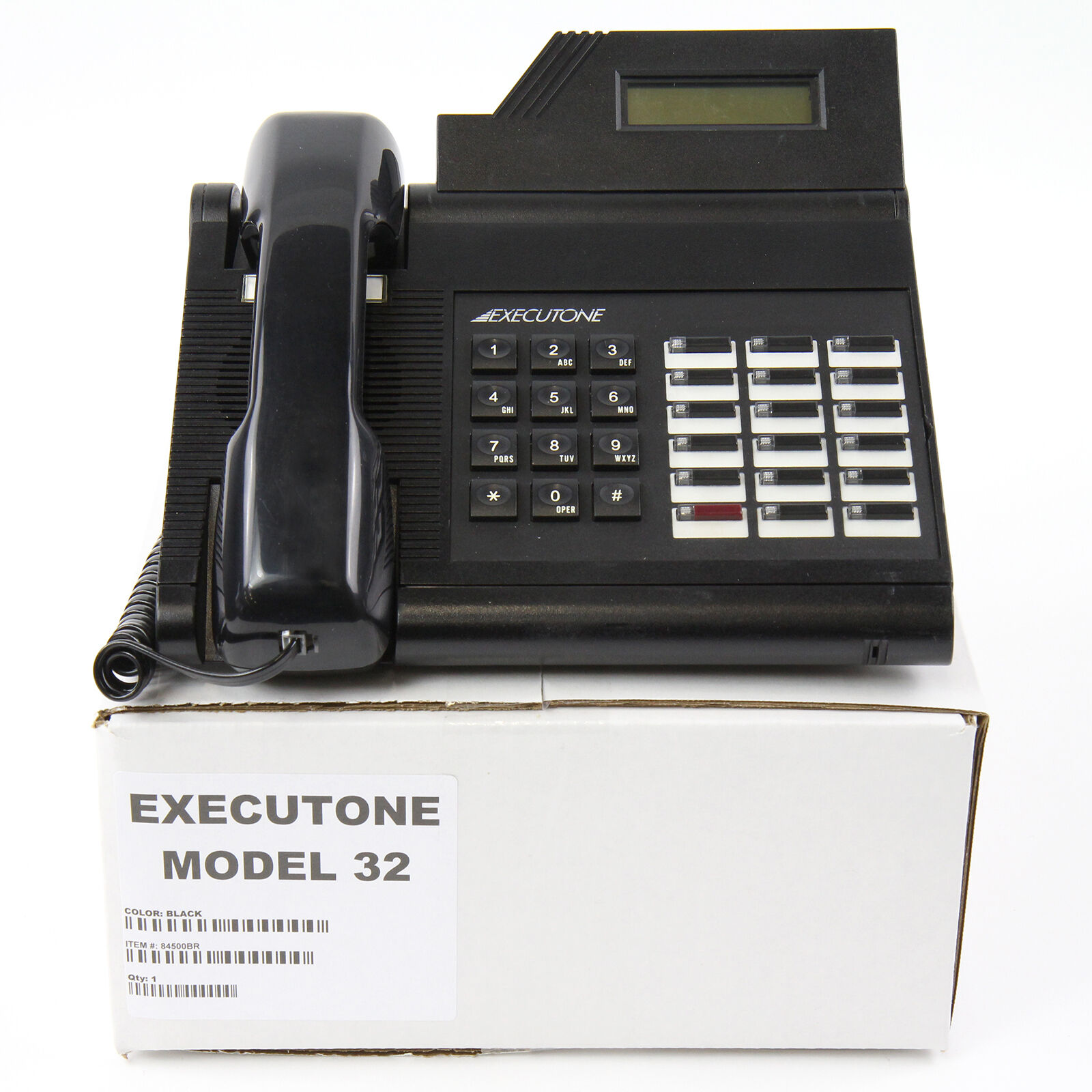 M-18 M-32 and M-64 Charcoal Gray REPLACEMENT HANDSET: Executone M ...