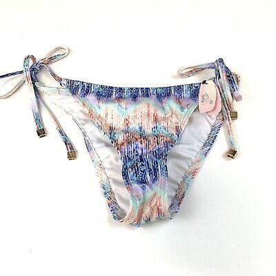 NEW Victorias Secret Bikini Bottoms Size Small The Skimpy String Side Tie Blue](Tie Side Bikini Bottoms)