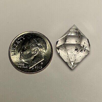 Herkimer Diamond Middleville NY Quartz Crystal!  VNP Grade!  12.4 Carats! 18mm