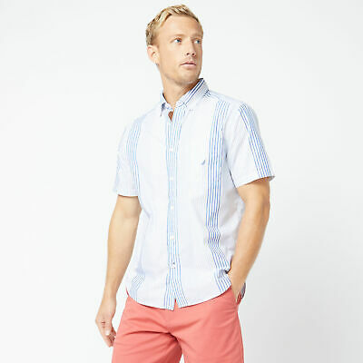 Nautica Mens Classic Fit Vertical Stripe Shirt