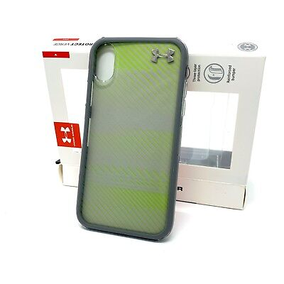 NEW Under Armour UA Protect VERGE Case for iPhone X Iphone XS CLEAR GRAY GREEN