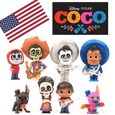 Disney  Pixar Coco  movie Mini-Figure Miguel Hector Dante Pepita Figure 8PCS lot