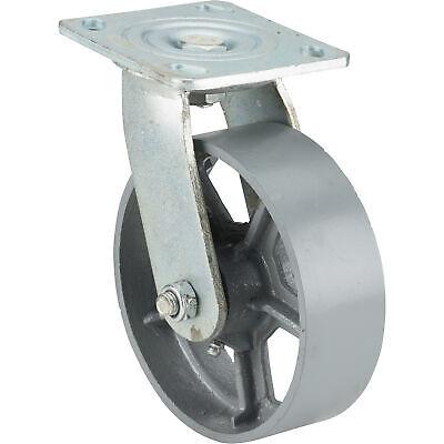 Ironton 6in. Rigid Steel Caster - 900-lb. Capacity