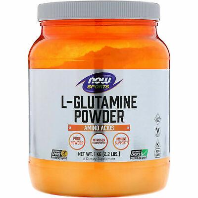Now Foods Sports L-GLUTAMINE Powder 2.2 lbS, 1 KG - BUILD MUSCLE, IMMUNE -