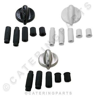 Universal Ersatz Backofen Drehknopf Farbauswahl Schwarz Weiß oder Silber