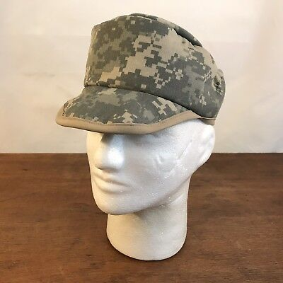 Camouflage Military Style Cap (Digital Camouflage Military Style Cadet Soft Bill Fitted Small Patrol Cap CH15)
