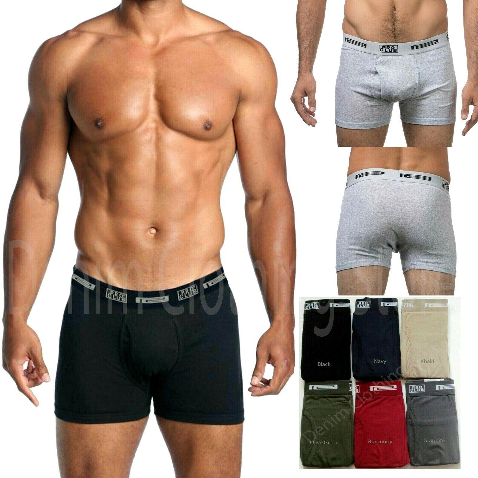 2 Pack Lot Pro Club 100% Cotton Men Underwear Boxer Briefs S