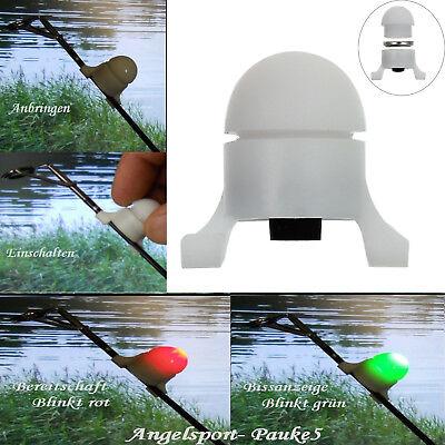 4 Stück LED-Bissanzeiger Knicklicht Rute Aal Nachtangeln elektronischer Bite ()
