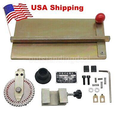 Hot Manual Embosser Metal Plate Stamping Deboss Dog Tag Printer Us