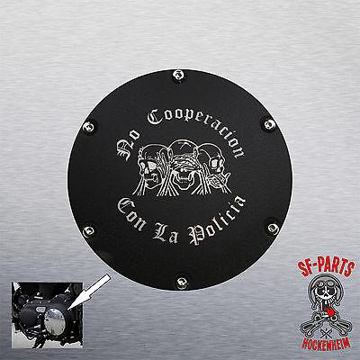 Kupplungsdeckel Derby Cover schwarz Struktur für Harley Davidson Sportster ab 04
