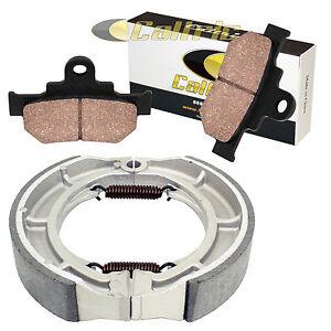 SUZUKI-LS650-LS650F-LS650P-SAVAGE-1986-2011-FRONT-BRAKE-PADS-amp-REAR-BRAKE-SHOES