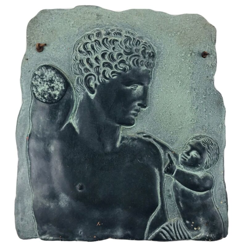 """8-1/2"""" bas-relief Hermes And Dionysus Greece Olympia Museum Copy Wall Hanging"""